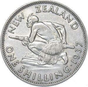 Better - 1937 New Zealand 1 Shilling - TC *041