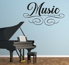 Custom Name Music Wall Decal Decor Sticker Vinyl Lettering COLORS MS967