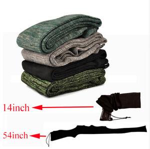 "54"" / 14"" Silicone Treated Gun Sock Rifle Shotgun Pistol Storage Cover Case New"