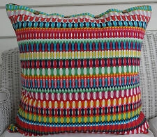 LARGE COTTON PRINTED CUSHION COVER 60 X 60 BEAUTIFUL BRIGHT COLOURS 'SERAFIN'