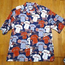 Vintage Red Sox Reyn Spooner Button Down Hawaiian Shirt World Series Champs XXL