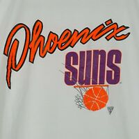 Vintage 90s Stedman Phoenix Suns T-Shirt L White Neon Spell Out NBA Basketball