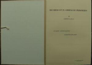 AGOSTINO ZALIANI cartella completa 4 acquaforti 70x50 tutte firmate numerate '82