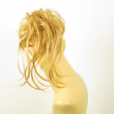 Haargummi Scrunchie Haarteil Haarverdichtung golden blond 22 24b