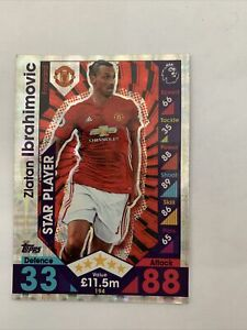 Zlatan Ibrahimovic Manchester United Star Player Match Attax Topps Football Card
