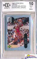 1998 Upper Deck #16 Michael Jordan Sticker BECKETT 10 MINT Bulls HOF