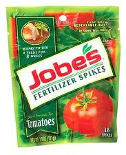 >>18 pk JOBE'S Fertilizer Spikes For Tomato Plants Slow Release 6-18-6 Vegetable