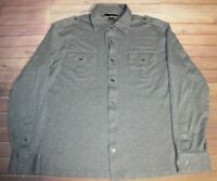 Michael Kors Button Down Long Sleeve Shirt Top Blouse Womens Large Heather Gray
