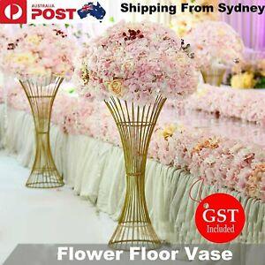 2 PCS Metal Flower Stand Floor Vase Columns Marriage Pillar 60cm Wedding Decor