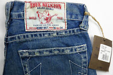 True Religion Bobby Big T Women's Jeans 30 x 34 Destroyed USA Straight Leg NEW