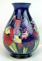 Stunning Moorcroft Orchid Tall Vase 1950's. Made in England!