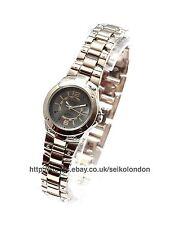 OMAX Damen Grau Zifferblatt Armbanduhr, silber Verzierung, Seiko (Japan) Uhrwerk