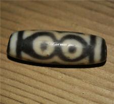 tibet three eyed dzi bead pendant old genuine amulet 3 eyes gzi tibetan talisman