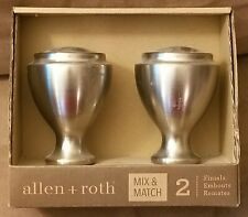 ALLEN & ROTH BRUSHED NICKEL CURTAIN ROD FINIALS 0773162