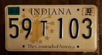 2003 INDIANA The Crossroads of America License Plate 59 T 103.  Free Shipping