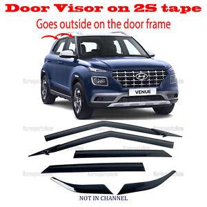 2020-2021 Hyundai Venue - DOOR SIDE WINDOW VENT VISORS RAIN GUARDS - ⭐6pcs⭐ Set