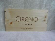 Oreno Toscana Tenuta Sette Ponti Wood Wine Panel End