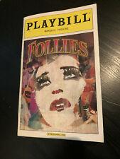 PLAYBILL - Stephen Sondheim's FOLLIES Bernadette Peters, Elaine Paige Sep 2011