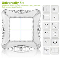 2 Pack Switch Decorative Cover European Romantic Wall Outlet w/Adhesive Sticker