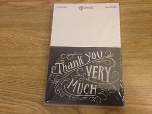 36 Chalkboard Thank You Note Cards - Thank You Very Much with Envelopes
