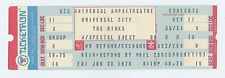 Kinks Ticket 1978 Jun 23 Universal Amphitheatre Universal City CA Unused