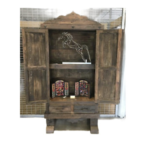 Armoire Reclaimed Old Doors with Two Drawers.