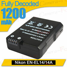 LI-ion Battery for Nikon EN-EL14  COOLPIX D3100 D3200 P7000 P7100 Digital DSLR