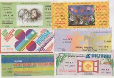 ITALIA 1971/88 LOTTERIA ITALIA LOTTO DI 6 BIGLIETTI