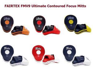 Fairtex Ultimate Contoured Focus Mitts FMV9 Punch Target Pad Muay Thai Boxing
