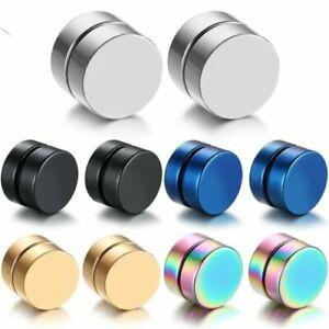 Punk Mens Strong Magnet Magnetic Ear Stud Non Piercing Earrings Fake Earrizh 1PC