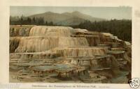 Stampa Antica 1898= YELLOWSTONE = Stati Uniti USA = Natura = CROMOLITOGRAFIA