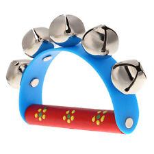 Musical Toy for KTV Kids Little Hand Held Tambourine Bell Metal Jingles Ball HY