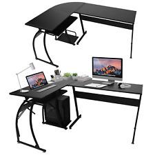Computertisch Eckschreibtisch L-förmig Schreibtisch Gaming Tisch PC Bürotisch