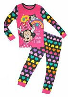 New Disney Store Minnie Mouse Girls Long Sleeve Pajama Sleep Set Pj Pals