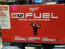Milwaukee 2504-21 M12 FUEL 1/2'' Hammer Drill / Driver Kit 12V - Sealed