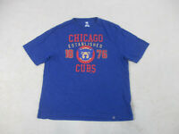 Majestic Chicago Cubs Shirt Adult 2XL XXL Blue Red MLB Baseball Mens B48