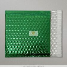 50 Green Metallic Bubble Wrap Lined Padded Mailing Gift Envelope / Bag CD Size