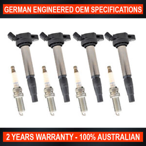 4x Swan Ignition Coils & NGK Spark Plugs for Toyota Corolla ZRE152 1.8L 2.0L