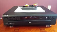 PHILIPS DVD793C  5 DISC CD / DVD PLAYER CHANGER WITH REMOTE MANUAL CABLES
