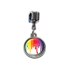 Rainbow Paint Drip - Pride Ink Colors - European Style Bracelet Charm Bead