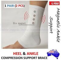 1x PAIR MAGNETIC HEEL & ANKLE COMPRESSION SUPPORT SOCKS BAND BRACE PAIN RELIEF