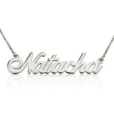 Silver Name Necklace Personalized Name Necklace Custom Name Necklace-oNecklace ®