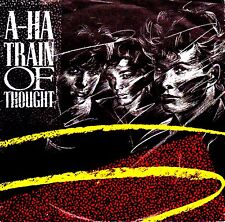"12"" - A - HA - TRAIN OF THOUGHT (SPANISH PRESS. RARE WITH TYPOGRAPHICAL ERRORS!!"