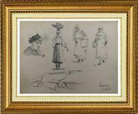 CHARLES WISLIN (1852-1932) BELLE SCENE ANIMEE A VANNES VERS 1877 (626)