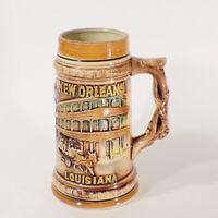Vintage New Orleans Louisiana Bourbon St French Quarter Beer Stein 1960's Japan