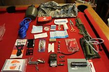 SURVIVAL GEAR WATER FILTER COMPASS KNIFE FIRST AID MILITARY BUG OUT PACK CANTEEN