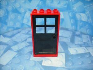 Lego - Doors - Black Door and Red Frame - 2x4