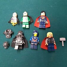 lego minifigures lot mavel DC superheroes parts pieces Thor Superman more