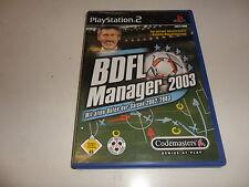 PlayStation 2  PS 2  BDFL Manager 2003