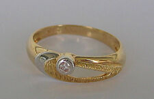 ✨WoW Nice✨ Ring in aus 585 Gold mit ✨0,10 ct.✨ Brillant Diamant Solitär Diamond